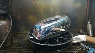 Eazy way to chrome Yamaha rx100 fuel tank