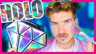 TESTING HOLOGRAPHIC MAKEUP!