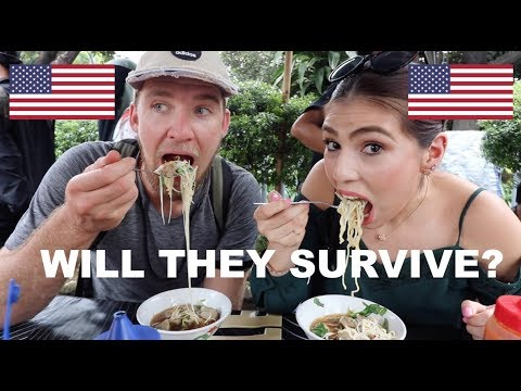 Two Americans take INDONESIAN STREET FOOD TOUR PECEL BAKSO MIE AYAM KERAK TELOR