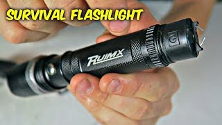 World's First Flashlight with Electric Beam Lighter