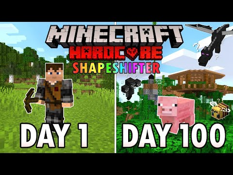 I Survived 100 Days as a SHAPESHIFTER in Hardcore Minecraft Minecraft Hardcore 100 Days