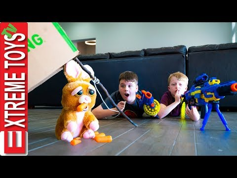 Ethan and Cole try to Capture the Easter Bunny X Shot Holiday Hustle