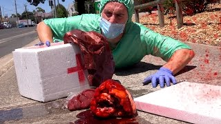 DROPPING HUMAN BODY PARTS IN PUBLIC!