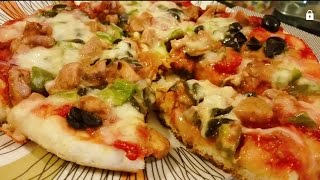 Easy pizza without oven recipe ( pizza on stove )
