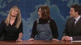 "On ""SNL"" Jennifer Aniston Confronts Vanessa Bayer About Rachel Impression (Video)"
