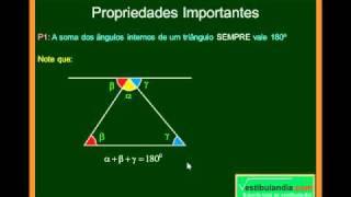 Matemática - Aula 34 - Geometria Plana - Triângulos - Noções Gerais - Parte 1