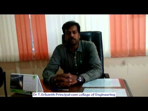 Dr T Srikanth-Principal-VSM college of Engineering