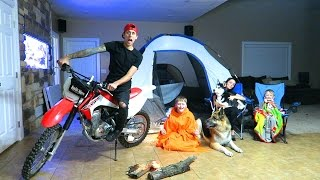 CRAZY INDOOR CAMPOUT!!