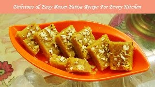 Besan Patisa Recipe/ Homemade sweets for festival season/Delicious & Easy sweet