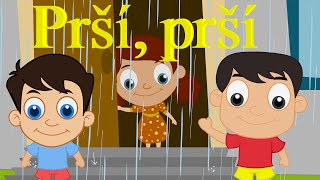 Prší, prší, len se leje + 10 pesničiek | Zbierka | 16 minútový mix | Slovenské detské pesničky