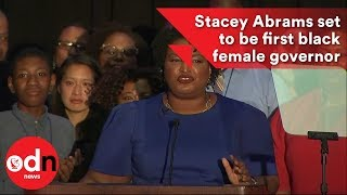 Stacey Abrams is on her way to become first black US state governor