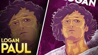 Logan Paul Illustration | KSI VS Logan Paul | Speed Art | Vector Art | GraphicsD