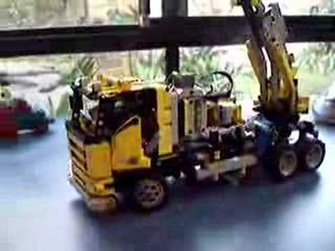 Lego Technic remote controlled cherry picker 8292 3 motors
