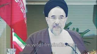 President Khatami of Islamic Republic Of Iran gives speech on 'The New Delhi Declaration'