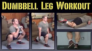 Home Leg Workout with Dumbbells