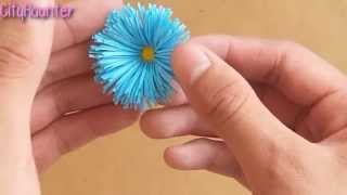 Como hacer flores de papel {SUPER FACIL} // Decoración para regalo