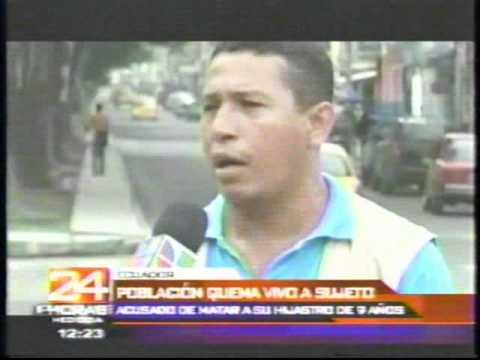 HOMBRE QUEMADO VIVO POR SER UN ASESINO