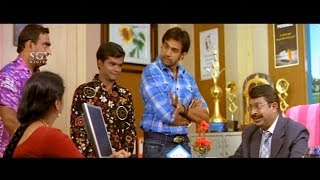 Chiranjeevi Great Plan to Escape from Principal by Mother Help | Gandede Movie Kannada Comedy Scene