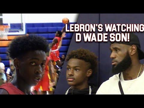 LeBron & Bronny WATCH Zaire Wade INSANE POSTER & GAMEWINNER inFront of Dwyane Wade
