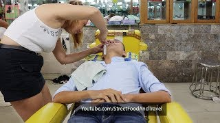 Barbershop Vietnam relaxing Face Shave and Massage
