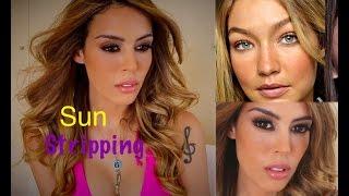 Tendência Sun Stripping | Preparação de Pele + Sardinhas Falsas