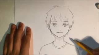 How To Draw Anime Male Face [Slow Narrated Tutorial] [No Timelapse]
