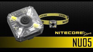 Nitecore NU05 White & Red USB Rechargeable Safety Signal Light for Running, Bicycling, Pets, Kids