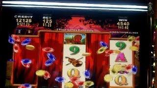 Konami Gaming - Band of Gypsies Slot Bonus with Re-trigger