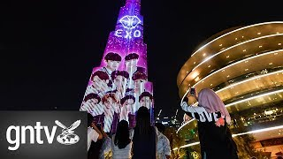 K-Pop sensation Exo and their fans take over the Burj Khalifa