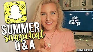 PREPPY SUMMER SNAPCHAT Q&A! Nail Polish, Summer Shoes, & College Plans?!?  ||Kellyprepster