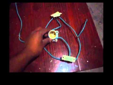 Como conectar un foco con dos apagadores en escalera Trifasicos