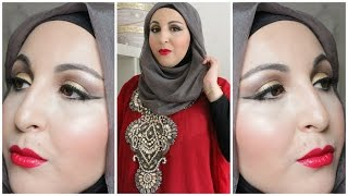 Download ULTRA GLAM Arab Style Make up & Hijab tutorial 3Gp Mp4