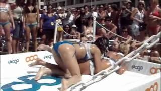 Hot Girls Wrestling in Lube