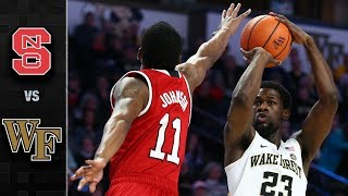 NC State vs. Wake Forest Basketball Highlights (2017-18)