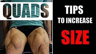 GET BIG LEGS- QUADS(थाईज़ का साइज़ बढ़ाएं)-TIPS & METHODS [HINDI]