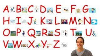 Learn French. Pronunciation : French alphabet (l'alphabet français)
