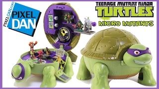 Teenage Mutant Ninja Turtles Micro Mutants Donnies Lab Mini Playset Video Review