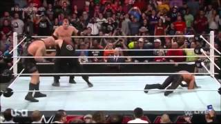 Brock Lesnar destroys The Authority: Raw, January 19, 2015
