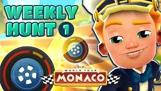 🏎️ Subway Surfers Weekly Hunt - Collecting Wheel Tokens in Monaco (Week 1)