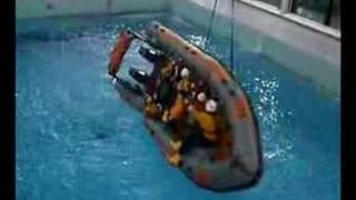 RNLI sea survival training