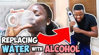 Replacing WATER With LIQ Prank On Eva (EXTREMELY FUNNY)