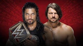 WWE Extreme Rules 2016 - Roman Reigns VS AJ Styles - WWE WHC Championship (Livestreamed)