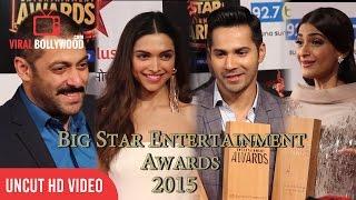 UNCUT - Big Star Entertainment Awards 2015 | Salman Khan | Deepika Padukone | Varun Dhawan & More