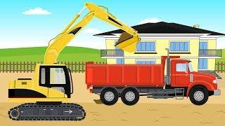 Construction Machines for Kids | Excavator and Truck - Fence | Koparko - Ładowarka Dla Dzieci