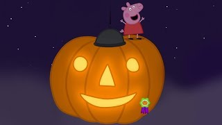 Peppa Pig English Episodes - GIANT Halloween Pumpkin! - Cartoons for Children