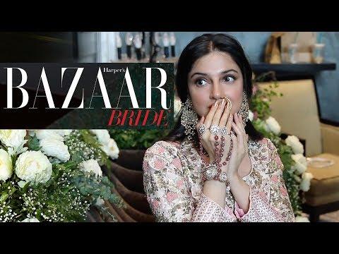 Divya Khosla Kumar's Cover Shoot | Behind The Scenes | Harper's Bazaar Bride - August issue
