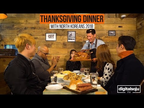 North Koreans Try American Thanksgiving Food 2018