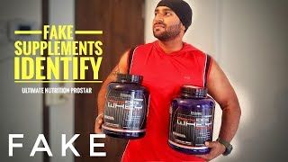 How to identify fake supplements | ultimate nutrition Prostar 100% whey protein unboxing review