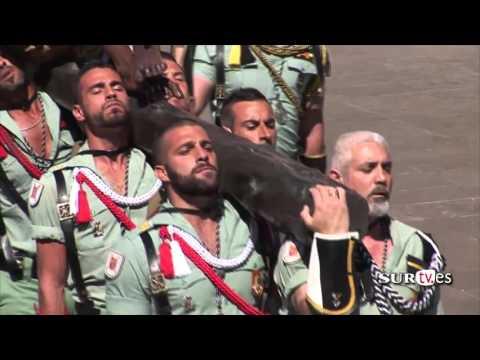 Legionarios cantando El Novio de la Muerte Semana Santa de Málaga 2016