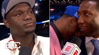 Zion, RJ Barrett and future NBA stars wear emotions on their sleeves on draft night   2019 NBA draft